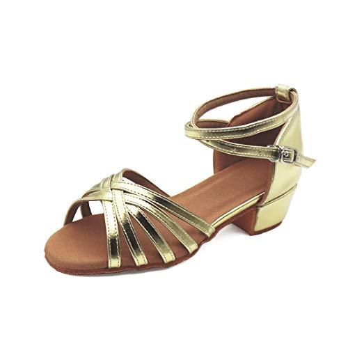 Zapatos de Baile Latín Calzado de Tacón Medio para Niña/Mujer