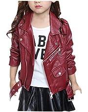 子供服シープスキン風 ライダースジャケット合成皮革 女の子 大きいサイズ 革ジャン オートバイジャケット バイクジャケット