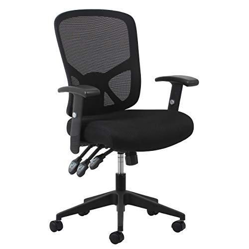 OFM ESS Collection 3-Paddle Ergonomic Mesh High-Back Task Chair with Arms and Lumbar Support, in Black (ESS-3050)