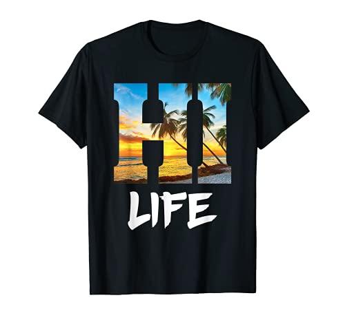 Recuerdo de regalos de vacaciones de verano de Hawaii Hawaiian Beach Aloha Camiseta