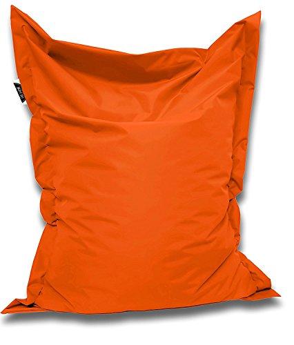 Patchhome Sitzsack und Sitzkissen Eckig - Orange - 100x70cm - in 25 Farben und 7 versch. Größen
