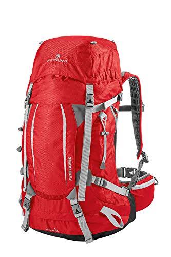 Ferrino Finisterre 48 - Mochila de senderismo unisex, Unisex adulto, Mochila de trekking, 75735HRR, rojo, 48 Litri
