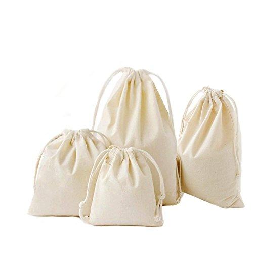 Amoyie-Lot de 3/4 adorables sacs de rangement réutilisables avec cordon de serrage pour accessoires de maquillage, de voyage, quotidiens, couches-culottes, vêtements d'enfant