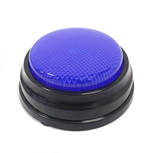 Bedler Aufnahmefähige Sprechtaste mit LED-Lernressourcen Antwortsummer Blau Sprachrekorder Diktiergeräte Audio Recorder Audiorekorder