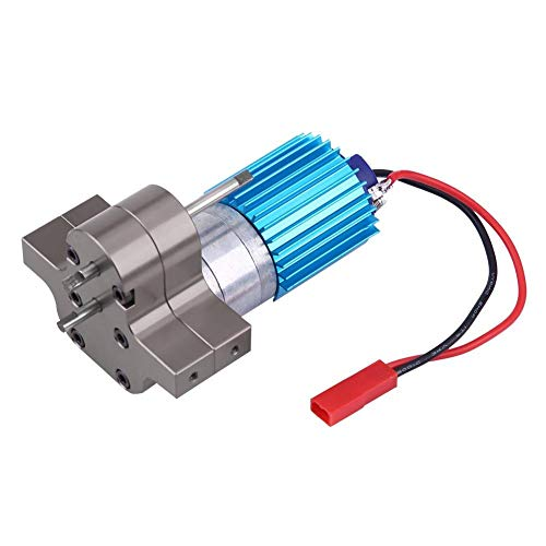 Dilwe RC-Getriebe, Metallgetriebe-Drehzahländerung mit 370-Bürstenmotor für WPL 1633 RC-Auto( Titangrau)