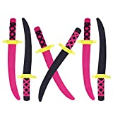Super Z Outlet Lightweight Safe Soft Foam Toy Ninja Foam Swords Pirate Style with Handle for Party Favors, Children Games & Activities (6 Pack)