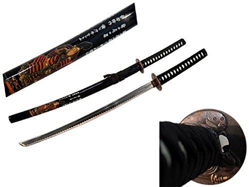 "HG 40.5"" Black Collectible Japanese Katana Samurai Sword Ninja with Stand"