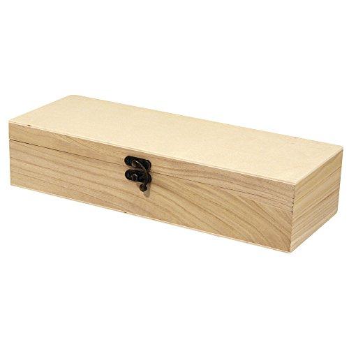 RAYHER 62299000 Holz box en-Set quadratisch FSC mix Credit, 1 box 32 x 12 x 7 cm und 3 box en 10 x 10 x 6 cm