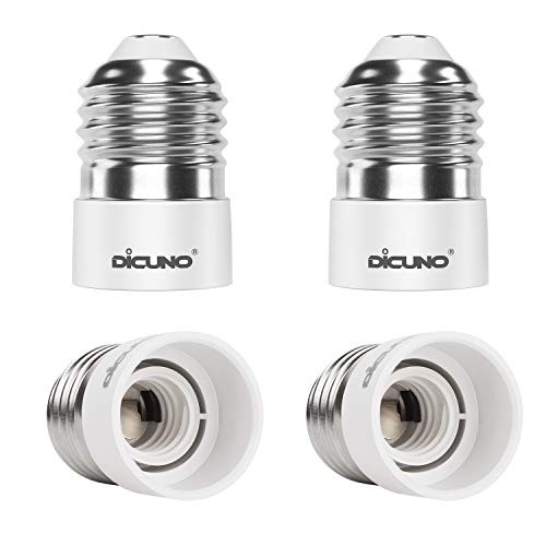 DiCUNO 4-Pack E27 to E14 Socket Adapter Socket Convertidor Adaptador de base de lámpara...