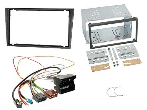 Radioeinbauset für Doppel DIN Autoradio in Opel Combo C, Meriva, Corsa C, Tigra (ab 2005) - grau