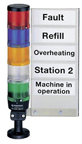 Preisvergleich Produktbild WERMA Beschriftungstafel 96000005 für Kombisignal Kennzeichnungsmaterial 4049787008799