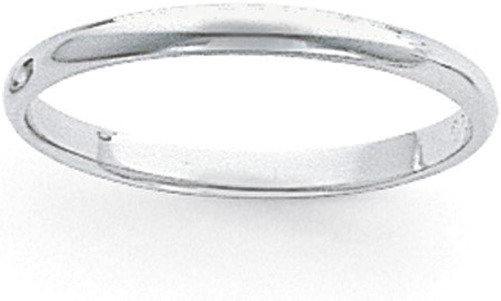 Sonia Jewels Platinum 3mm Half-Round Featherweight Wedding Band