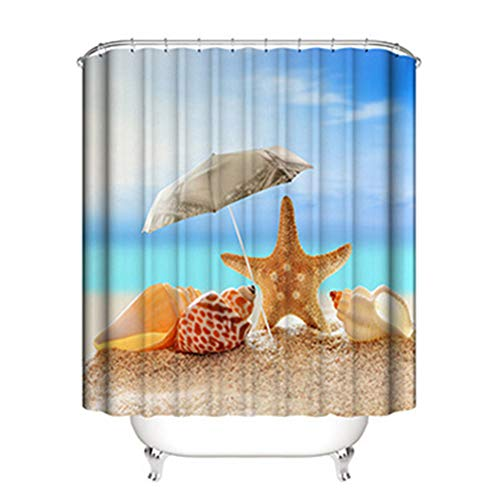 DREAMING-Home Hotel Bathroom Shower Curtain Partition Curtain Digital Printing Waterproof Mildew Shower Curtain Shower Curtain 150cm*180cm