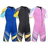 ZCCO Traje de baño térmico de neopreno para niños de 2,5 mm, traje...