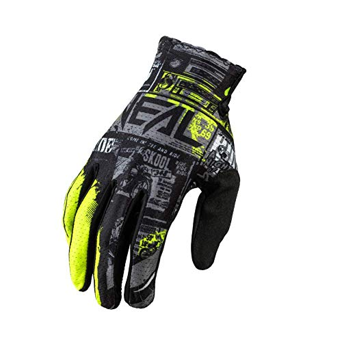 O'NEAL | Handschuh Fahrrad Motocross | MX MTB DH FR Downhill Freeride | Langlebige, Flexible Materialien, belüftete Handoberseite | Matrix Glove | Erwachsene | Schwarz Neon-Gelb | Größe M