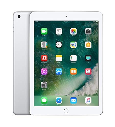 Apple iPad 9.7in 2017 32GB Wi-Fi - Silver (Renewed)