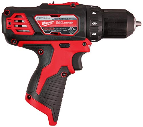 Milwaukee M12 12V 3/8-Inch Drill Driver (2407-20) (Bare Tool Only - Battery, Charger, and Accessories Not Included), Multicolor