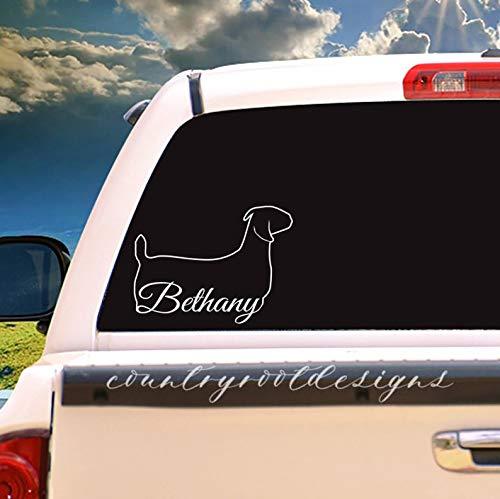 CLIFFBENNETT Calcomanía con Nombre, Mostrar Cabra, Cabra, calcomanía para Vaso, calcomanía para Auto, 4-H, FFA, caligrafía, guiones, Carne, Cabra, Cabra
