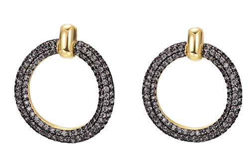 ESPRIT Glamour Damen-Ohrstecker ES-PERIBESS-BLACK GOLD teilvergoldet Spinell schwarz - ESER02690D000