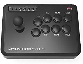 MAYFLASH Arcade Stick F101 for Nintendo Switch/PC/PS3/Android/Neogeo Mini