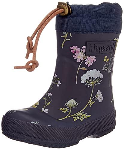 Bisgaard Thermo Rain Boot, Flowers-Blue, 32 EU