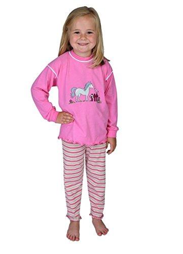 WÖRNER südfrottier Terry Chiffon Fille/bébé Cheval/cercles Orchidée – Pyjama 2 pièces Shorty Bavoir/Serviette à capuche/gant de toilette/Peignoir de bain – Taille 74–116 (9 mois à 6 ans), Rose, EU 80