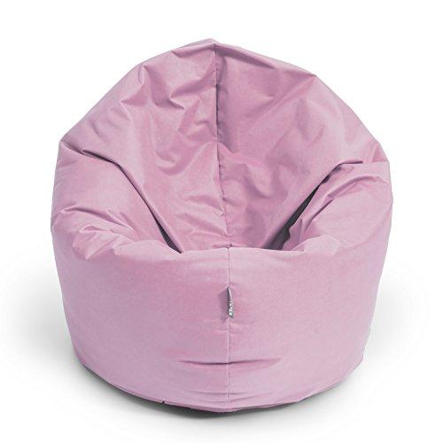 BuBiBag Sitzsack 2-in-1 100cm Durchmesser Funktionen mit Füllung Sitzkissen Bodenkissen Kissen Sessel BeanBag Joga 30 Farben (puderrosa)