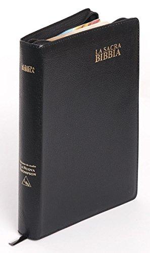 Bibbia da Studio La nuova Thompson - Formato grande (171.305) con rubrica, chiusura con cerniera e le parole di Gesù in rosso