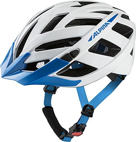 ALPINA Unisex - Erwachsene, PANOMA 2.0 Fahrradhelm, white-blue gloss, 56-59 cm