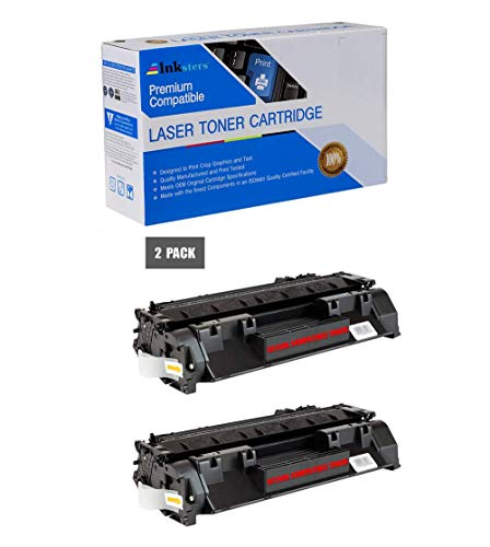 Inksters Compatible Toner Cartridge Replacement for HP 80X CF280X Black - Compatible with Laserjet Pro 400 M401A M401D M401DN M401DW M401N M425DN M425DW (2 Pack)
