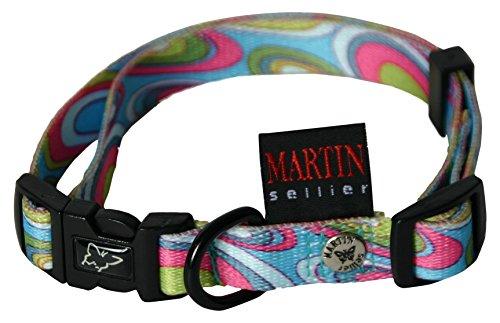Martin Sellier Collier en Nylon pour Chien Sixties 16-30/45 cm