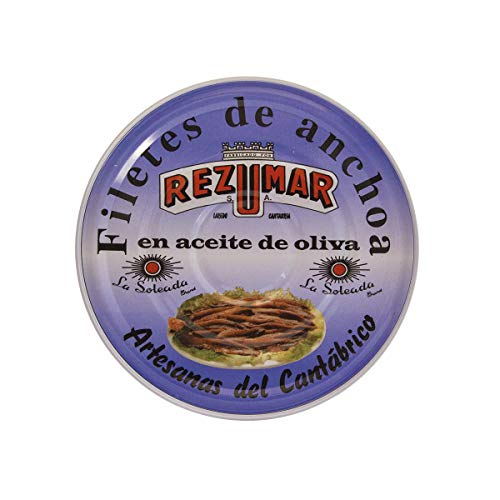 Anchoas del Cantábrico REZUMAR en Aceite Oliva. Lata 1150gr.