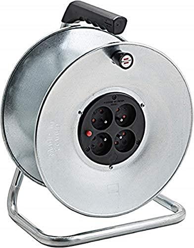 Brennenstuhl 1207901Silver–Avvolgicavo vuoto, 230V, grigio