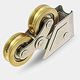 SHIJING PC 1 Tipo de aleación de Aluminio de la Rueda Deslizante Puertas y Ventanas Rodillos Polea cojinete de latón para Puerta corrediza y la Ventana de Ruedas