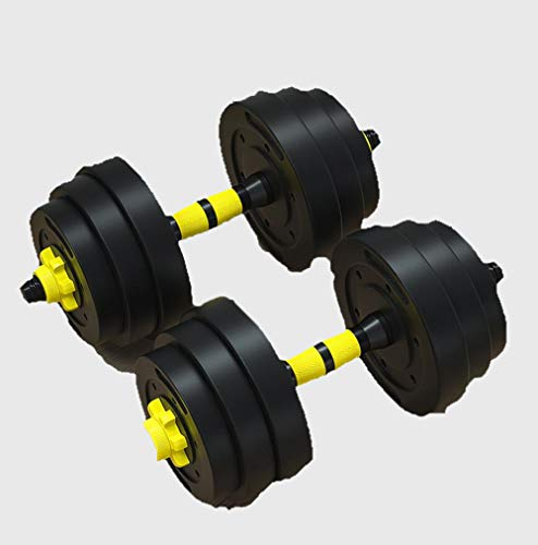 DUDM Übung Fitness Kurzhanteln Für Männer Einstellbares Gewicht Muskelaufbau Hanteln rutschfest Mit Pleuel Trainingshanteln Langhantel 2er Set Für Fitnessstudio Büro Zuhause Etc10KG(5KG x 2)