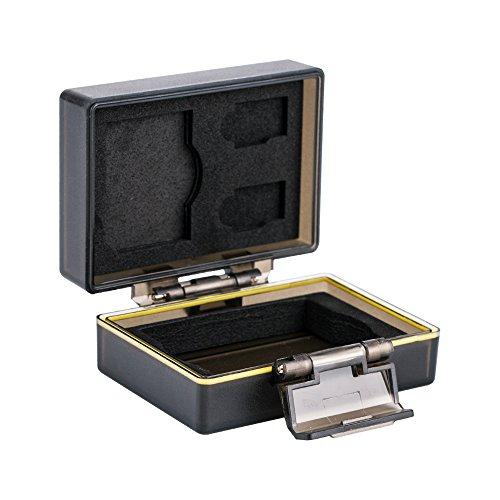 JJC Multifunktions Batteriegehäuse Kamera Akku Schutzbox & Speicher Fall Passend für Fujifilm NP-W126 / NP-W126s & 1 x SD, 2 Mikro-SD-Karten
