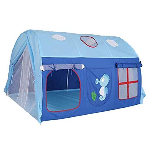 HB.YE - Tenda da gioco per giardino, gioco casa su letto smontabile, per bambini, ragazzo, colore: Blu
