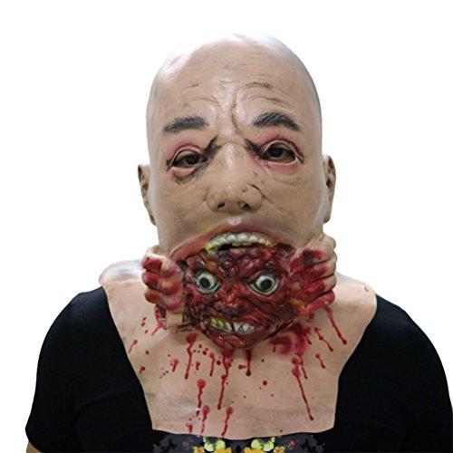 BESTOYARD Halloween Masken Walking Dead Melting Gesicht Vollkopfmaske Halloween Kostüme Halloween Party Zubehör