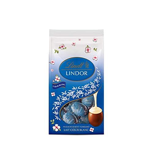 Lindt Sacchetto Di 22 Uova Di Cioccolato, Il Latte Lindor, Riempito Con Una Suprema Fondente Chocoolat Bianco Per La Caccia Delle Uova Di Pasqua 180G