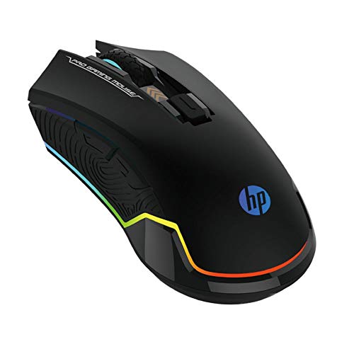 HP Wired Gaming Mouse LED RGB Backlit Adjustable 6200 DPI 6 Programmable Buttons Ergonomic USB Mice for Gamers