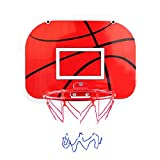 Teerwere Kids Portable Basketball Hoop 34cm Children Hanging Backboard Home Wall-Mounted Basketball Board Indoor Sports Board Basketball Stand Indoor and Outdoor Fun (Color : Black, Size : One Size)