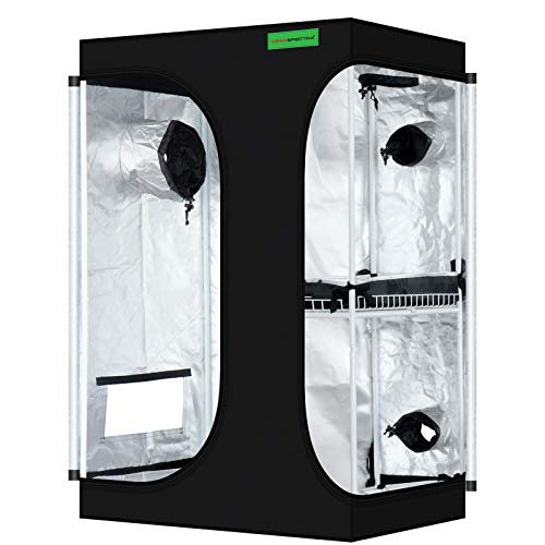 "VIPARSPECTRA 2-in-1 36""x24""x53"" Mylar Hydroponic Grow Tent with Observation Window and Floor Tray for Indoor Plant Growing 3'x2'"