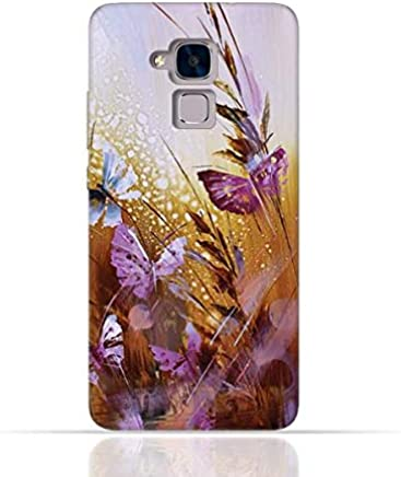 Huawei 5C / Huawei Honor 7 Lite/Huawei GT3 TPU Silicone Case with Butterfly Oil Paint Pattern