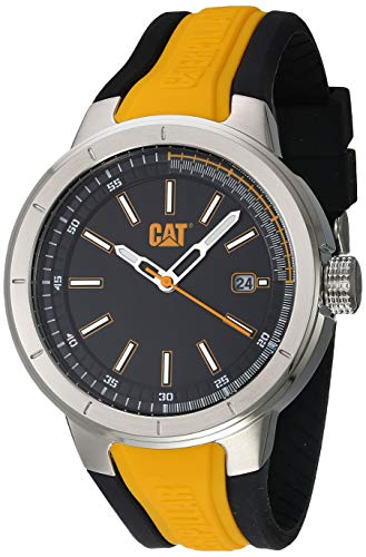 Reloj Análogo Para Hombre De Acero Inoxidable Amarillo Na14127127