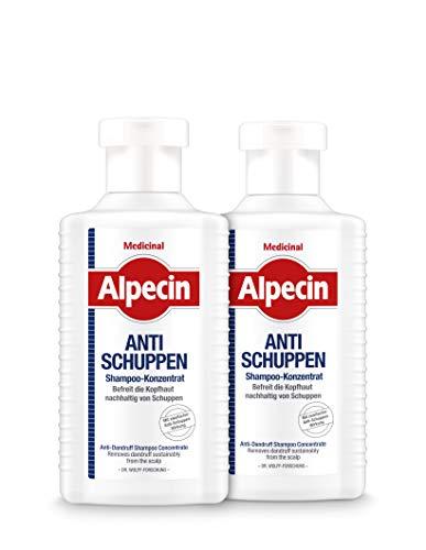 Alpecin Medicinal Shampoo-Konzentrat Anti-Schuppen - befreit die Kopfhaut nachhaltig von Schuppen - 2 x 200 ml
