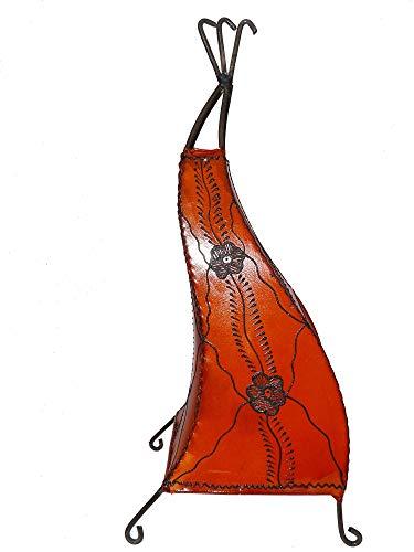 la luz de henna de Marruecos lámpara de pie oriental de piel Marrakech - 50 cm - 905802-0001