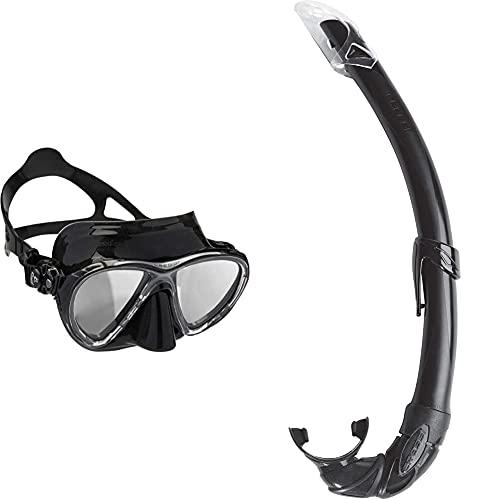 Cressi Big Eyes Evolution - Gafas De Buceo + Mexico Tubo De Snorkel, Unisex-Adult, Negro, Un Tamaño