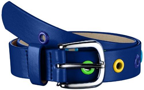 Playshoes Kinder-Unisex PU Nieten Gürtel Kindergürtel mit Nieten Gürtel, Blau (Marine), 55