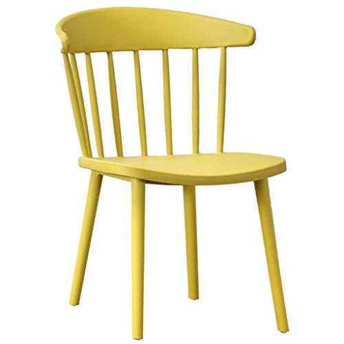 HTL Praktische Hocker Barhocker, Stühle Hocker Barhocker Barhocker Stühle Dining Chair Windsor Stuhl Haushalt Kunststoff Armlehne Rückenlehne Schreibtisch Dressing Stuhl,Gelb,76 * 38cm