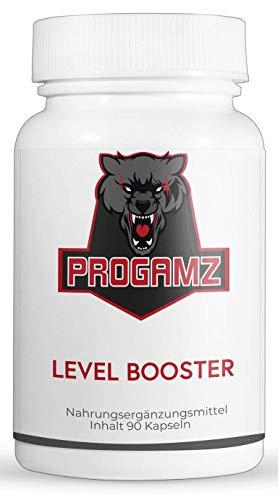 Progamz Level Booster | Gaming & Esports Booster | Next Level Gaming - 90 vegane Kapseln | hergestellt in Deutschland (33,15EUR/100g)